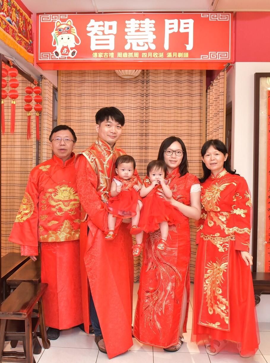 2021-09-18張家雙胞胎,古裝禮服(中國風格)全家福合照照片集