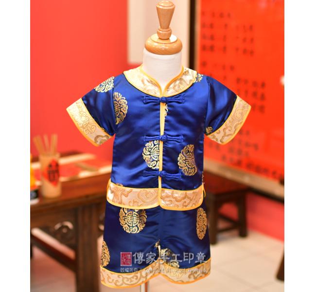 男生嬰兒古裝禮服圖3