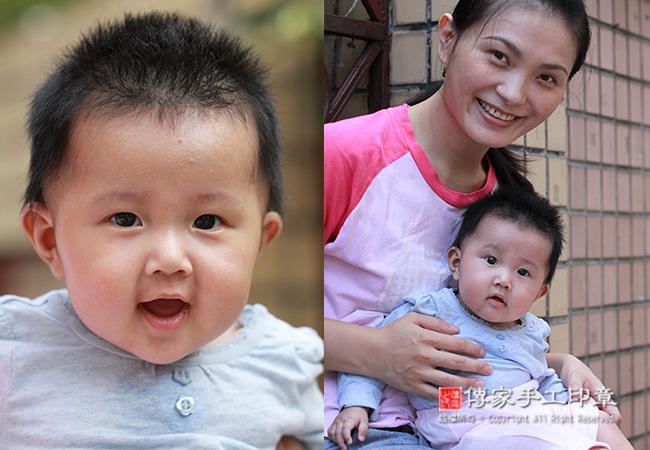 滿月理髮-全家福媽媽和寶寶合照