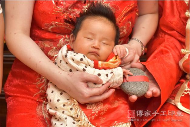 寶寶剃胎毛「石頭」祝福儀式