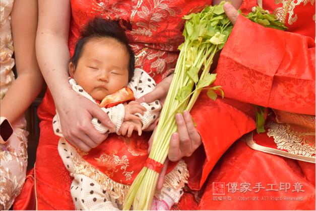 寶寶剃胎毛「芹菜」祝福儀式
